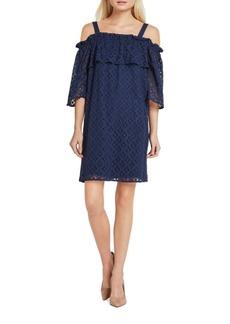 BCBGeneration Floral-Lace Off-The-Shoulder Dress