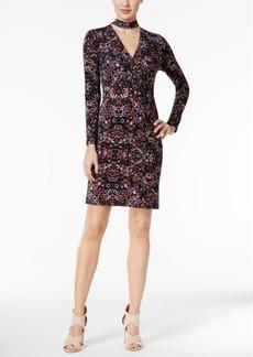 BCBGeneration Floral-Print Jersey Sheath Dress