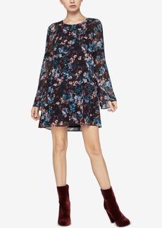 BCBGeneration Floral-Print Long-Sleeve Dress