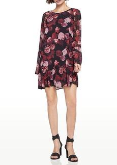 BCBGeneration Flounce-Hem Floral Dress