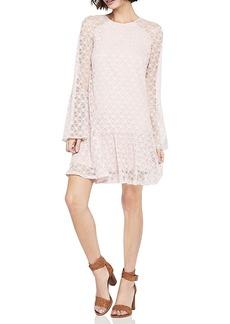BCBGeneration Flounce-Hem Lace Dress