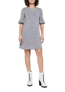BCBG Flounce-Sleeve A-Line Dress