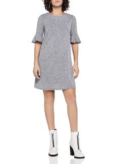 BCBGeneration Flounce Sleeve A-Line Dress