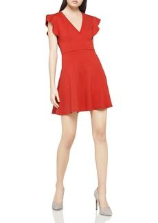 BCBGeneration Flutter Sleeve Fit-and-Flare Dress