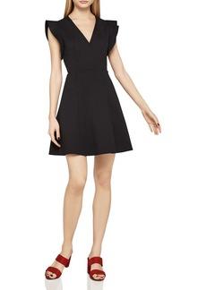 BCBGeneration Flutter Sleeve Fit-and-Flare Dress