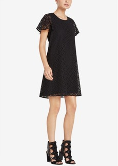 BCBGeneration Flutter-Sleeve Lace Shift Dress