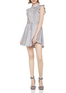 BCBGeneration Flutter-Sleeve Striped Shirt Dress
