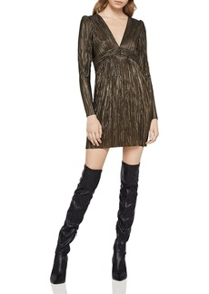 BCBGeneration Foil Pleated Knit Dress
