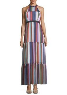BCBGeneration Graphic-Print Halter-Neck Maxi Dress