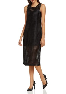 BCBGeneration Grid Midi Dress
