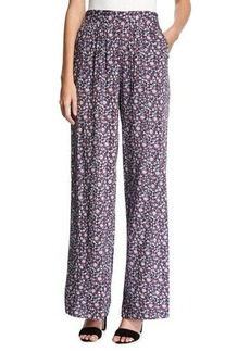 BCBGeneration High-Rise Floral-Print Pants