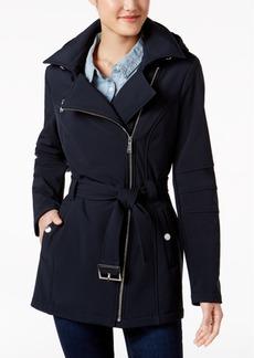 BCBGeneration Hooded Asymmetrical Softshell Coat