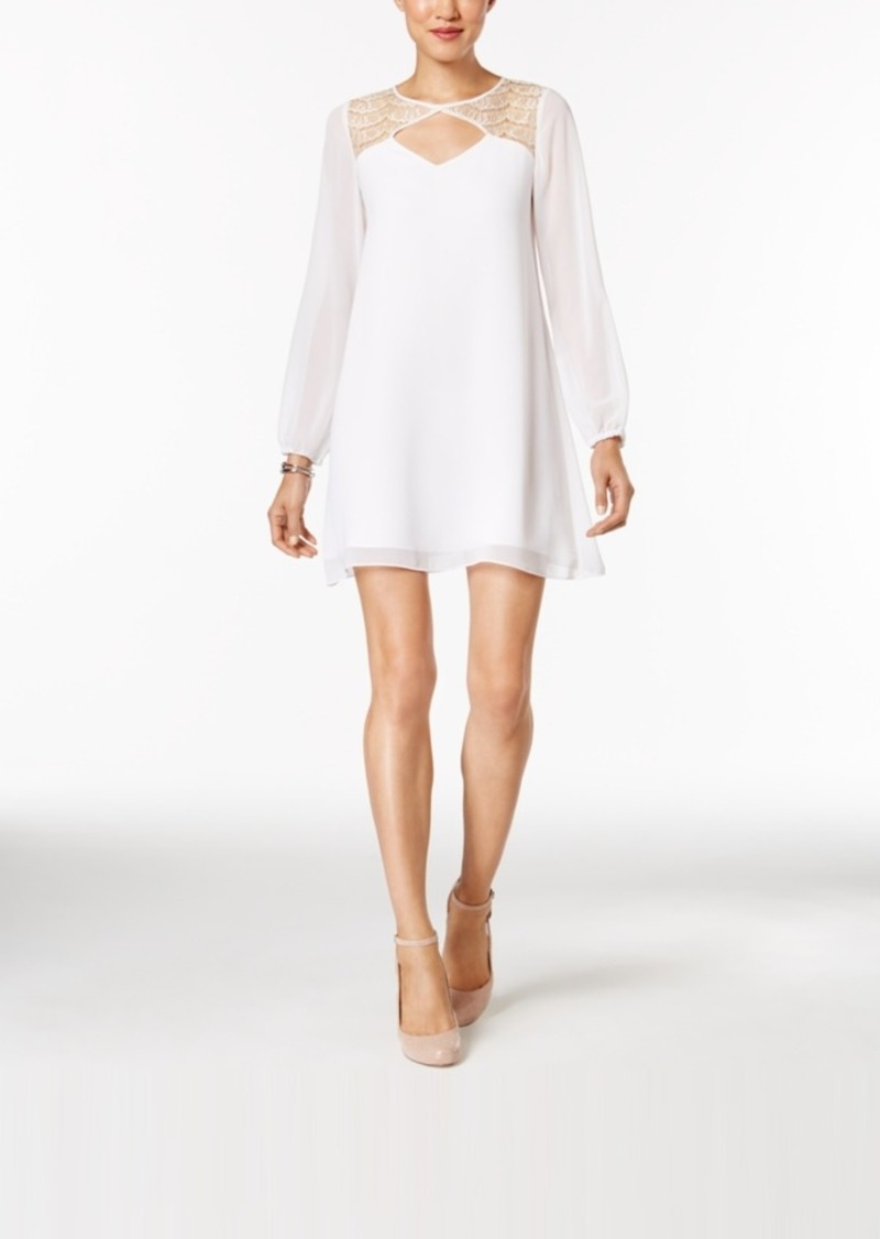 BCBGeneration Illusion Lace Shift Dress