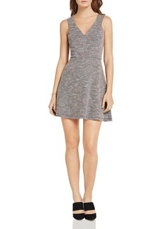 BCBGeneration Jacquard Fit-And-Flare Dress