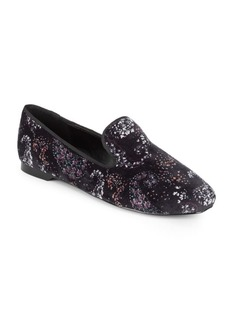 Justine Printed Velvet Loafers