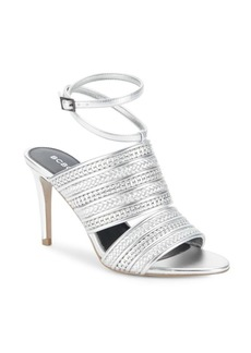 BCBGeneration Karli Metallic Woven Leather Sandals