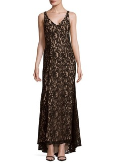 BCBGeneration Knit Lace Evening Dress