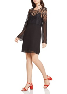 BCBGeneration Lace & Mesh Dress
