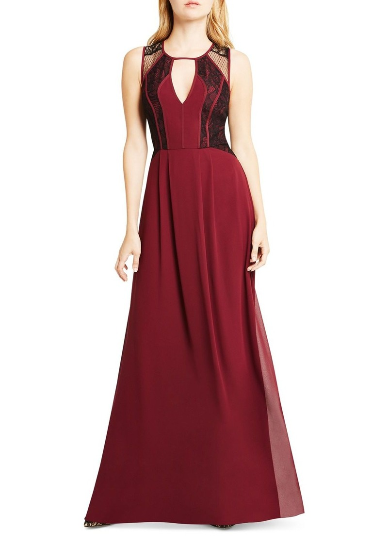 BCBGeneration Lace Bodice Maxi Dress