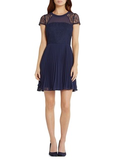 BCBGeneration Lace Detail Fit And Flare Dress