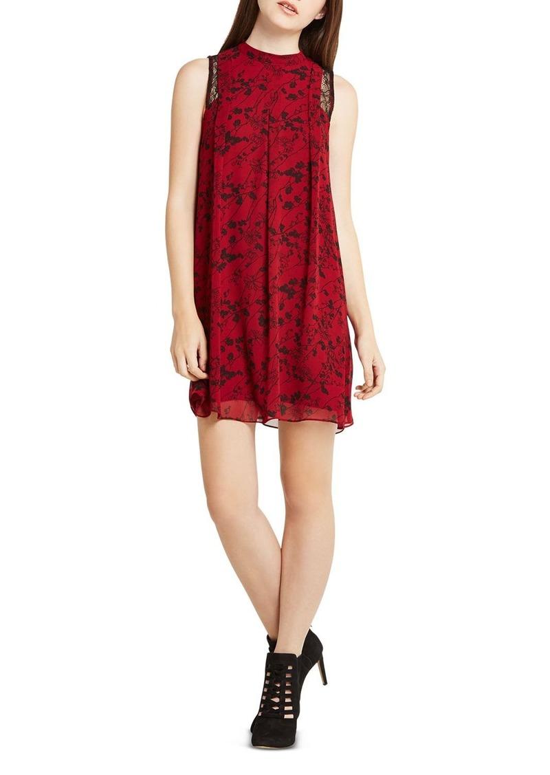 BCBGeneration Lace Detail Floral Print Dress