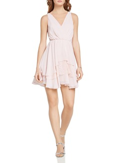 BCBGeneration Lace Inset Crossover Dress
