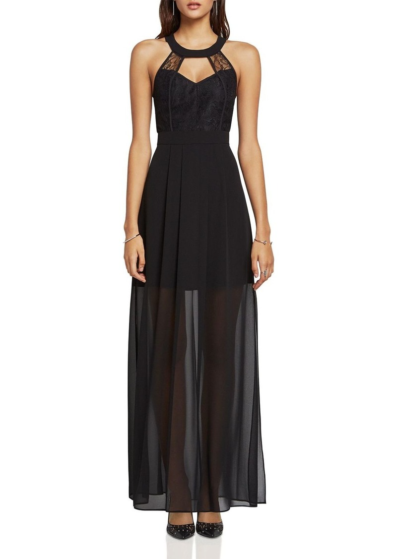 BCBGeneration Lace Inset Evening Dress