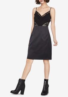 BCBGeneration Lace-Inset Slip Dress
