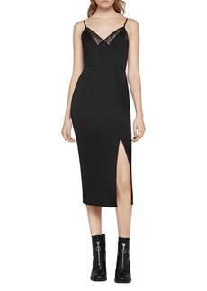BCBGeneration Lace Midi Slip Dress