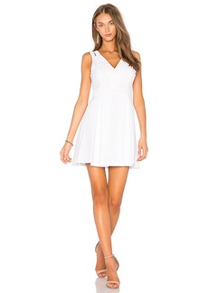BCBGeneration Lace Mix Dress in White. - size 0 (also in 2,4,6,8)