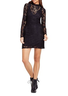 BCBGeneration Lace Mock Neck Dress