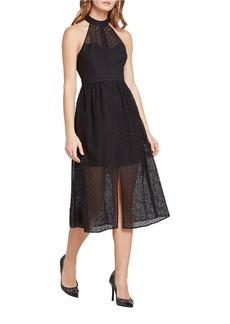 BCBGENERATION Lace Mock Neck Midi Dress