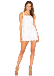 BCBGeneration Lace Overall Romper