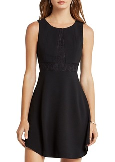 BCBGeneration Lace Triangle-Front Dress