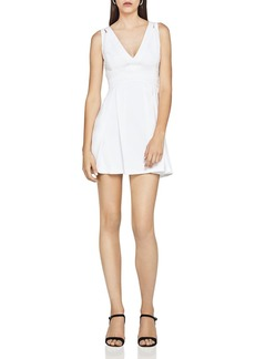 BCBGeneration Lace-Trim Fit-and-Flare Dress