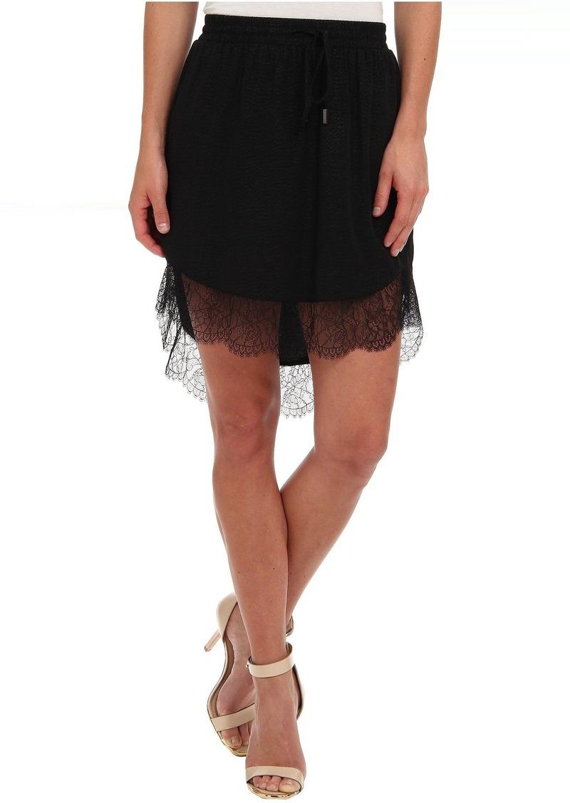 BCBGeneration Lace Trim Hi-Lo Skirt