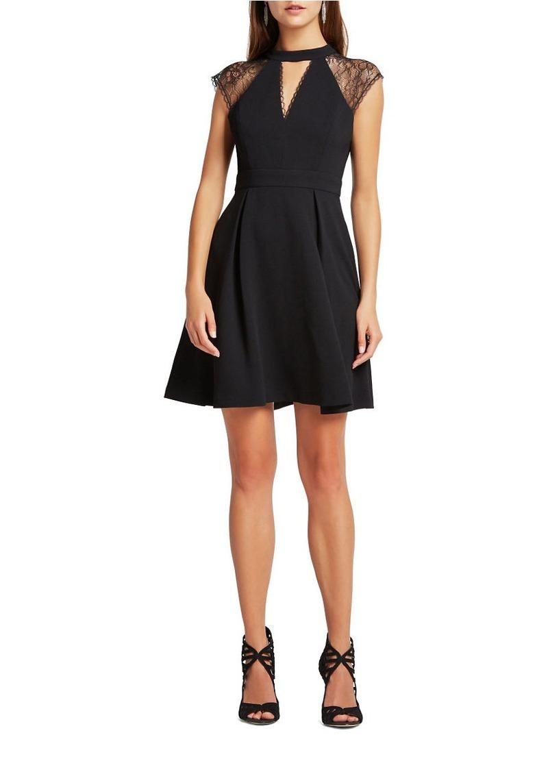 BCBGENERATION Lace Trimmed Flare Dress