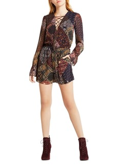 BCBGeneration Lace Up Romper