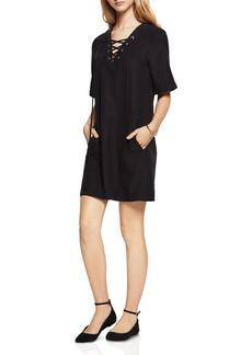 BCBGeneration Lace-Up Shift Dress
