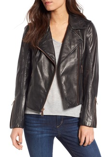 BCBGeneration Lambskin Leather Moto Jacket