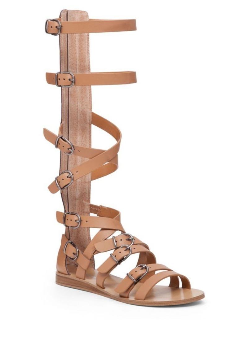 89cbf29d14126 BCBG BCBGeneration Larisse Calf Length Leather Gladiator Sandals