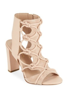 BCBGeneration Leather Block-Heel Sandals