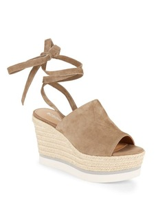 BCBGeneration Nico Leather Open-Toe Wedge Sandals