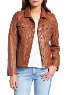 BCBGeneration Leather Trucker Jacket