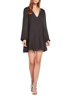 BCBGeneration Long Sleeve Chiffon Shift Dress