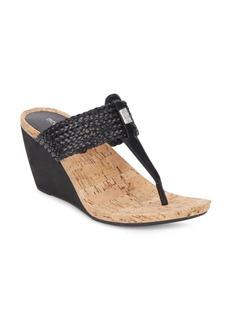 BCBGeneration Mel Mule Wedge Thong Sandals