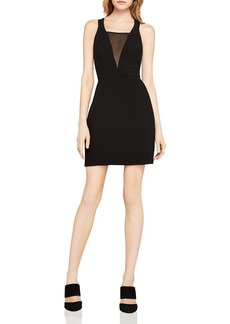 BCBGeneration Mesh-Inset Mini Dress