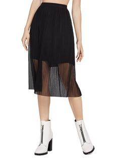 BCBG Mesh Midi Skirt