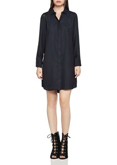 BCBGeneration Mesh-Shoulder Shirt Dress