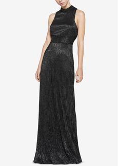 BCBGeneration Metallic-Knit Cutout Maxi Dress